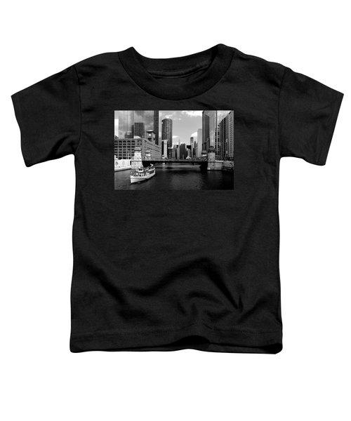 Chicago River Skyline Bridge Boat Toddler T-Shirt