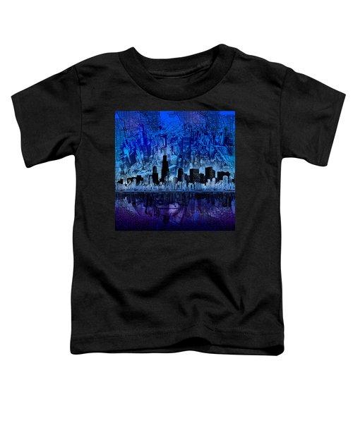 Chicago Skyline Blue Version Toddler T-Shirt