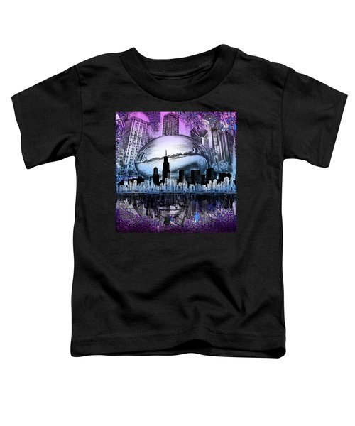 Chicago Skyline Drawing Collage 2 Toddler T-Shirt