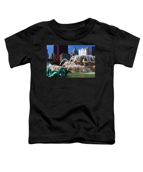 Chicago Skyline Grant Park Fountain Toddler T-Shirt