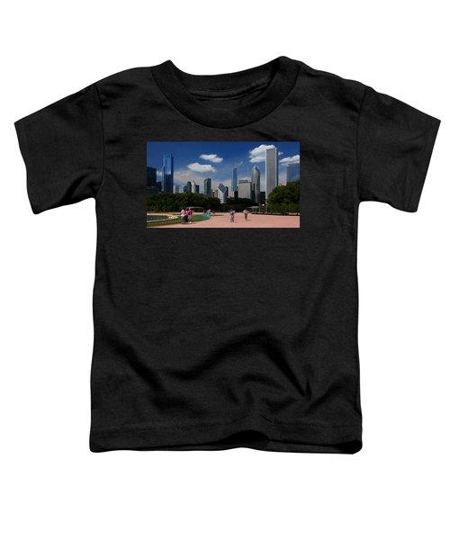 Chicago Skyline Grant Park Toddler T-Shirt