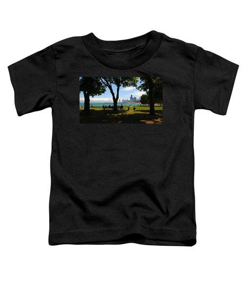 Chicago Skyline Lakefront Park Toddler T-Shirt