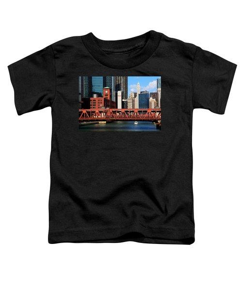 Chicago Skyline River Bridge Toddler T-Shirt