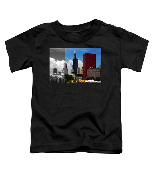 Chicago Skyline Sears Tower Toddler T-Shirt