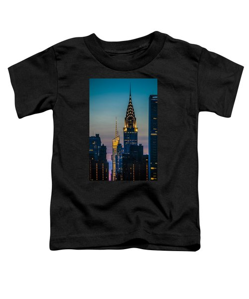 Chrysler Building At Sunset Toddler T-Shirt
