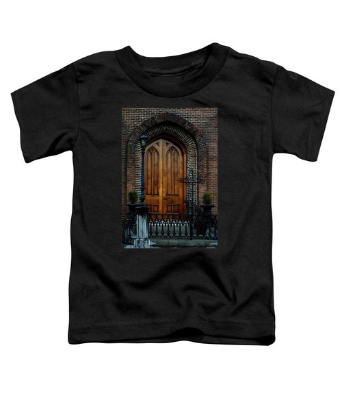 Church Arch And Wooden Door Architecture Toddler T-Shirt