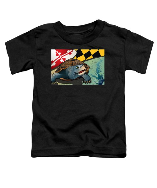 Citizen Terrapin Maryland's Turtle Toddler T-Shirt