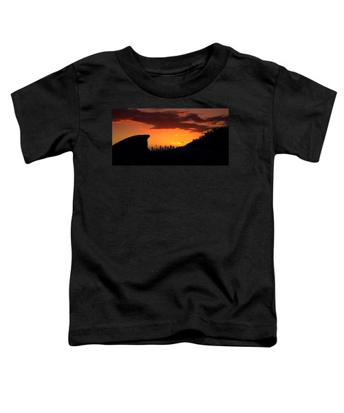 Toddler T-Shirt featuring the photograph City In A Palm Of Rock by Miroslava Jurcik