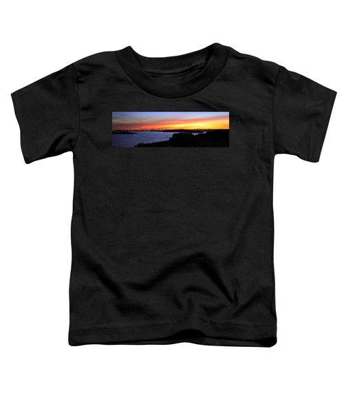 Toddler T-Shirt featuring the photograph City Lights In The Sunset by Miroslava Jurcik