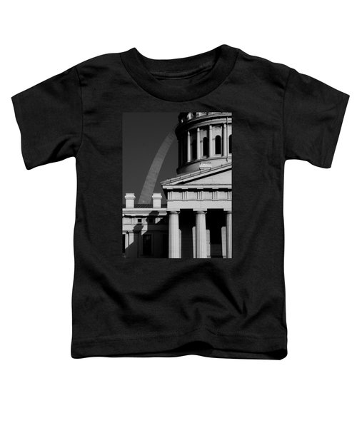 Classical Courthouse Arch Black White Toddler T-Shirt