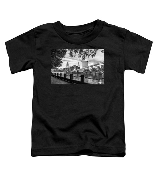 Cleveland River Cityscape Toddler T-Shirt
