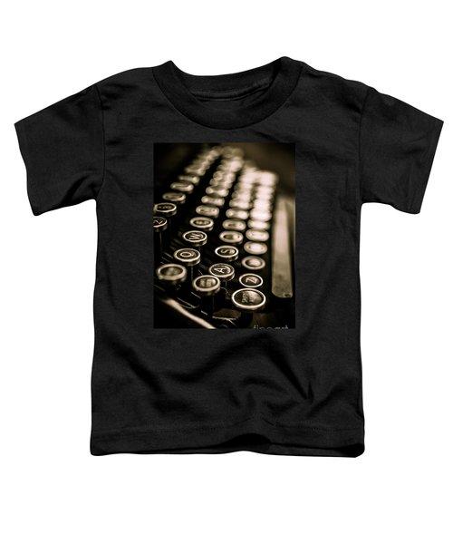 Close Up Vintage Typewriter Toddler T-Shirt