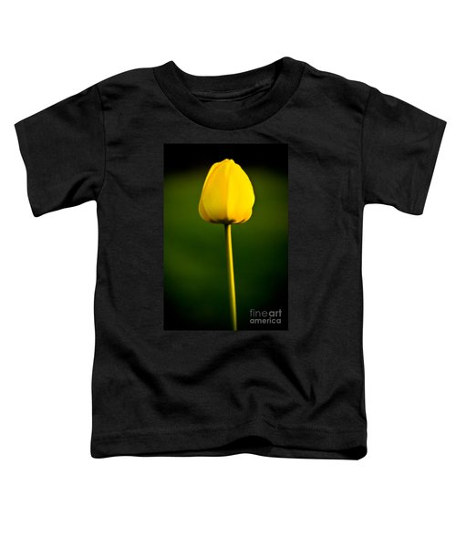 Closed Yellow Flower Toddler T-Shirt