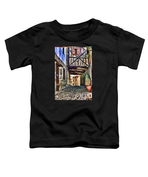 Cobble Streets Of Potes Spain By Diana Sainz Toddler T-Shirt