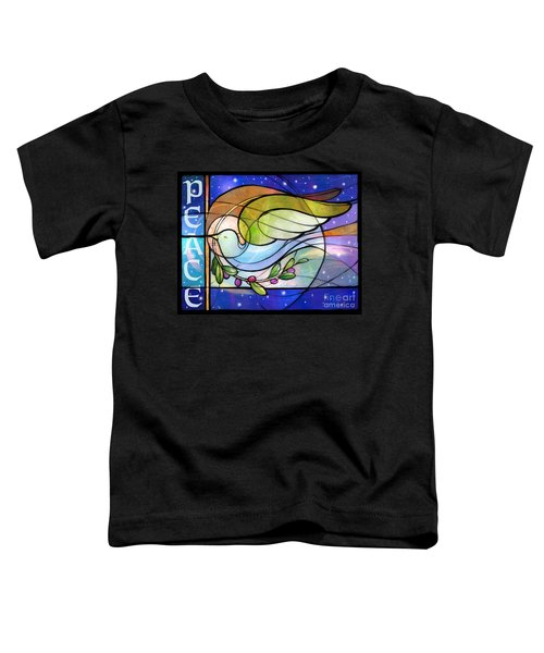 Colorful Peace Dove Toddler T-Shirt