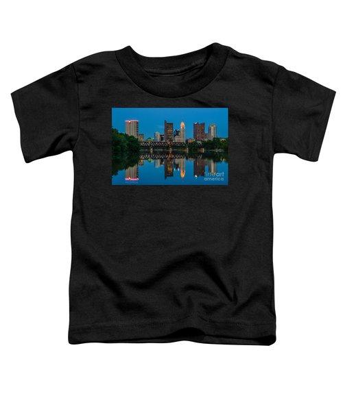 Columbus Ohio Night Skyline Photo Toddler T-Shirt