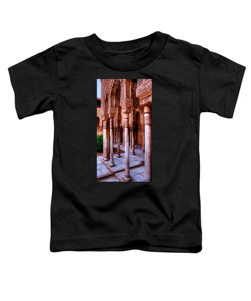 Columns Of The Court Of The Lions - Painting Toddler T-Shirt