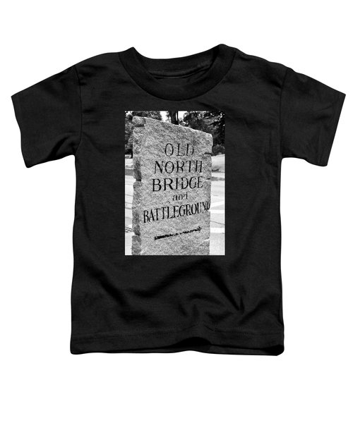 Concord Ma Old North Bridge Marker Black And White Toddler T-Shirt