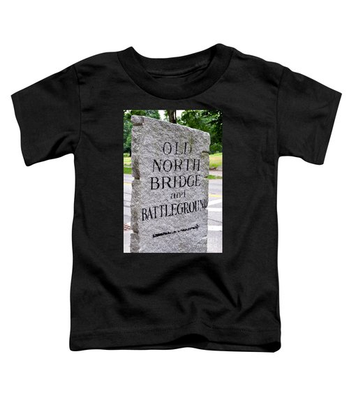 Concord Ma Old North Bridge Marker Toddler T-Shirt