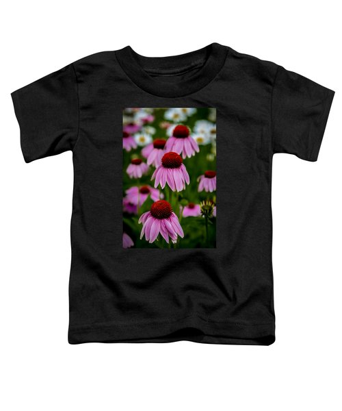 Coneflowers In Front Of Daisies Toddler T-Shirt