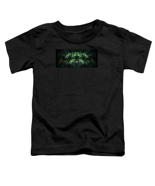 Cosmic Alien Eyes Green Toddler T-Shirt