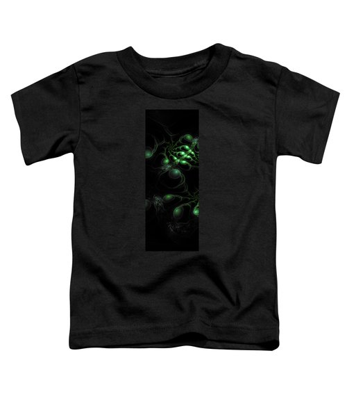 Toddler T-Shirt featuring the digital art Cosmic Alien Eyes Original by Shawn Dall