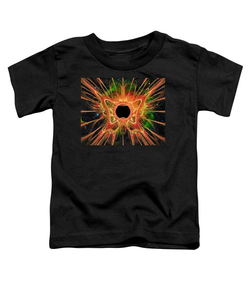 Toddler T-Shirt featuring the digital art Cosmic Butterfly Phoenix by Shawn Dall