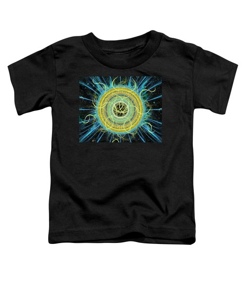 Toddler T-Shirt featuring the digital art Cosmic Circle Fusion by Shawn Dall