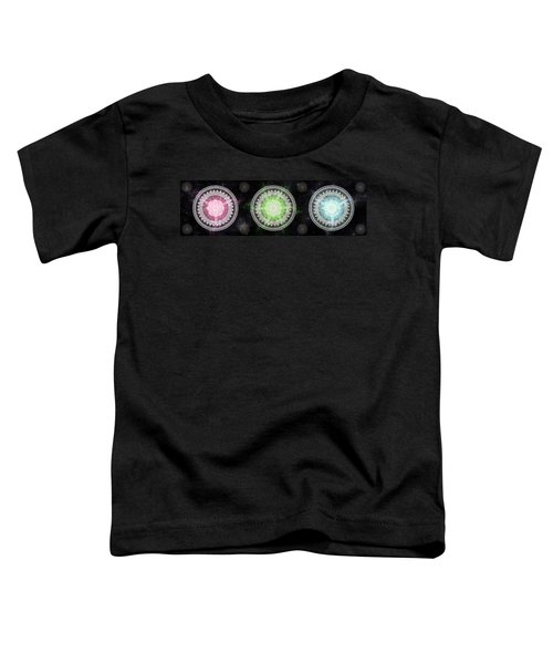 Toddler T-Shirt featuring the digital art Cosmic Medallians Rgb 1 by Shawn Dall