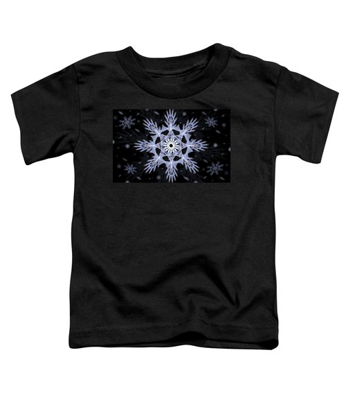 Toddler T-Shirt featuring the digital art Cosmic Snowflakes by Shawn Dall