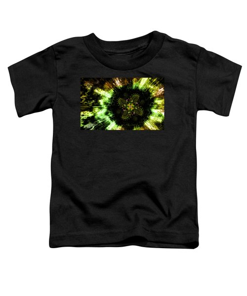 Toddler T-Shirt featuring the digital art Cosmic Solar Flower Fern Flare by Shawn Dall