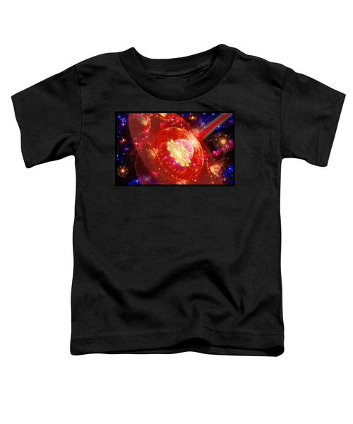 Toddler T-Shirt featuring the digital art Cosmic Space Station 2 by Shawn Dall