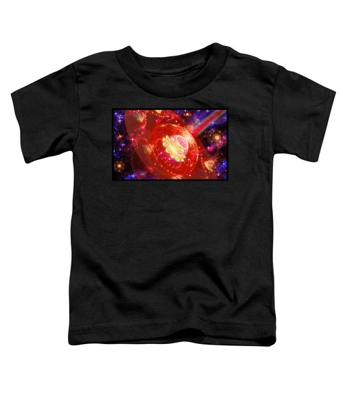 Toddler T-Shirt featuring the digital art Cosmic Space Station by Shawn Dall
