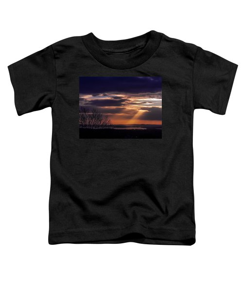 Toddler T-Shirt featuring the photograph Cosmic Spotlight On Shannon Airport by James Truett