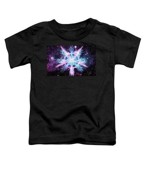 Toddler T-Shirt featuring the digital art Cosmic Starflower by Shawn Dall