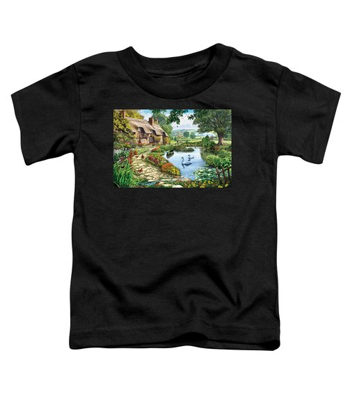 Cottage By The Lake Toddler T-Shirt