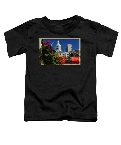 Courthouse Arch Skyline Fountain Toddler T-Shirt