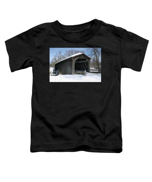 Covered Bridge In Winter Toddler T-Shirt