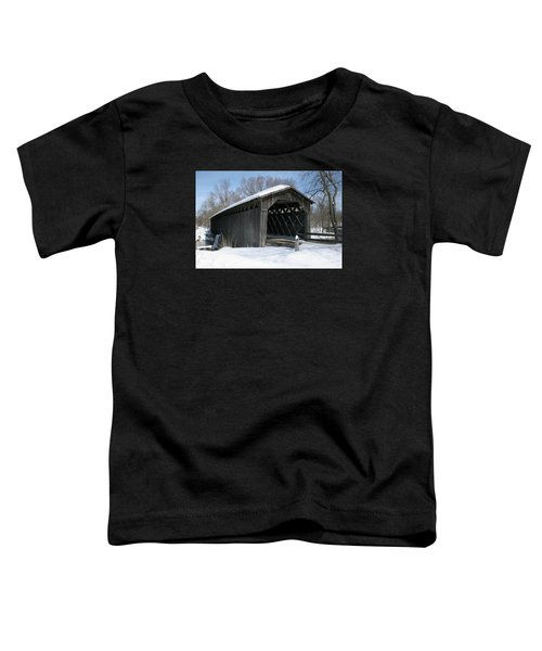 Covered Bridge In Winter Toddler T-Shirt