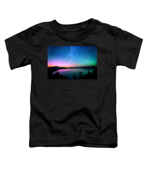 Crater Lake Aurora  Toddler T-Shirt