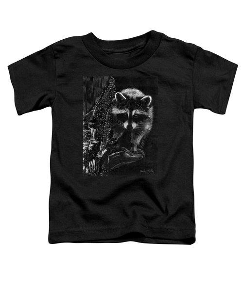 Curious Raccoon Toddler T-Shirt