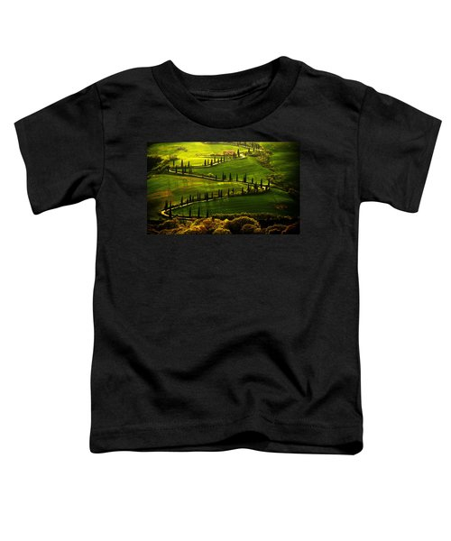 Toddler T-Shirt featuring the photograph Cypresses Alley by Jaroslaw Blaminsky