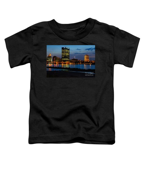 D12u152 Toledo Ohio Skyline Photo Toddler T-Shirt
