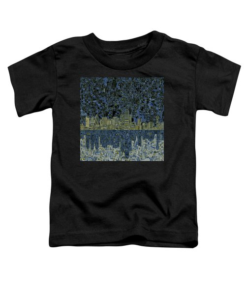 Dallas Skyline Abstract 2 Toddler T-Shirt