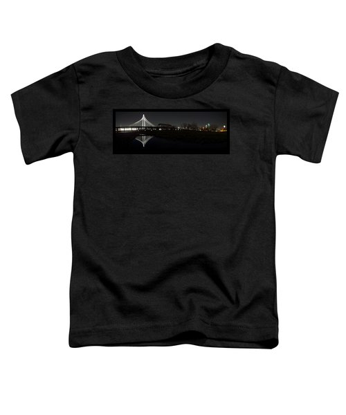 Dallas Skyline Hunt Bridge Color Toddler T-Shirt