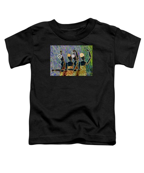 Toddler T-Shirt featuring the photograph Dance Party by Nareeta Martin
