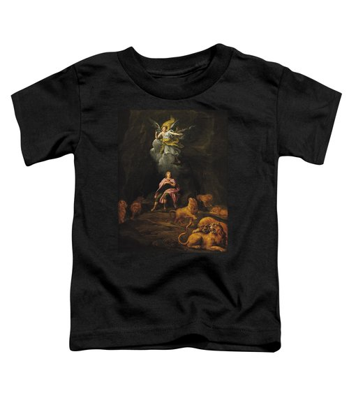 Daniel In The Den Of Lions Oil On Canvas Toddler T-Shirt