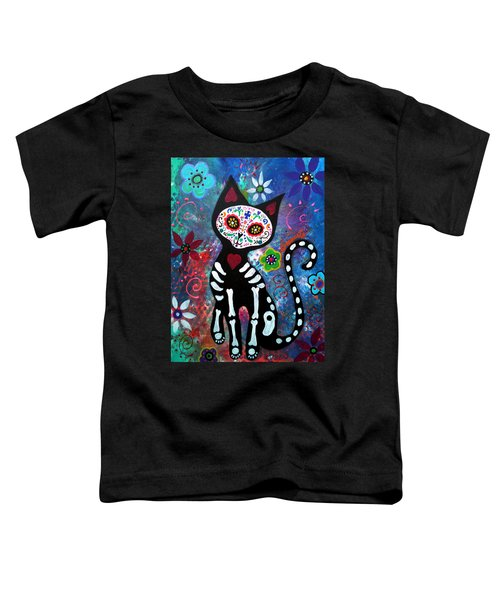 Day Of The Dead Cat Toddler T-Shirt