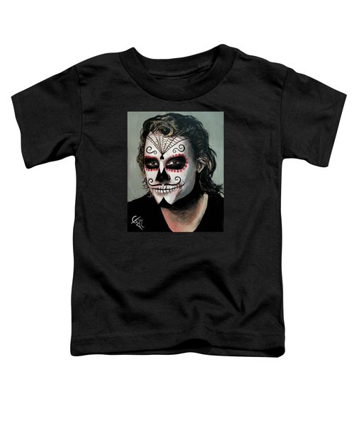 Day Of The Dead - Heath Ledger Toddler T-Shirt by Tom Carlton