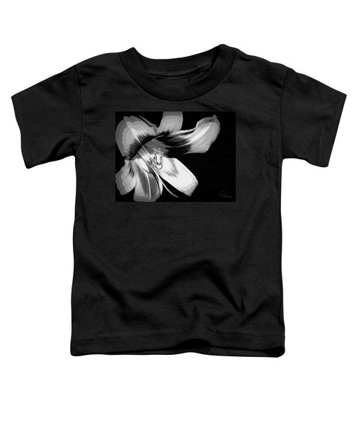 Daylily In Gray Toddler T-Shirt